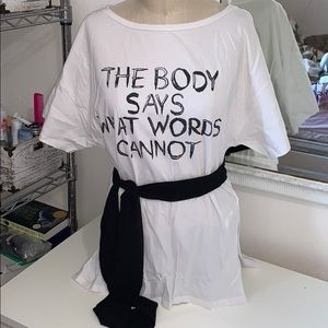 The body says what words cannot tee